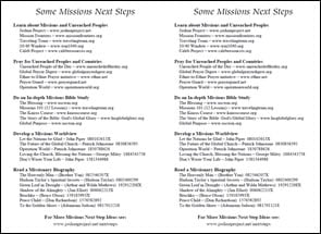 1.  Missions Next Steps Bulletin Insert
