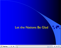 Let the Nations be Glad PowerPoint