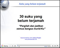 Indonesian Thirty Unreached Peoples PowerPoint