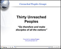 Thirty Unreached PowerPoint