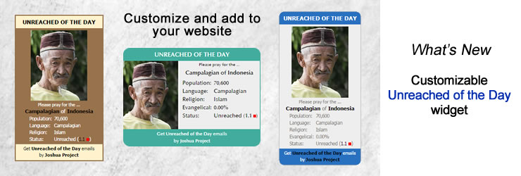 Unreached of the Day Widget