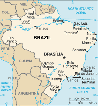 Saluma In Brazil Ethnic People Profile - Uruguay river world map