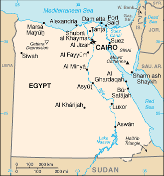 Algerian, Arabic-speaking in Egypt map