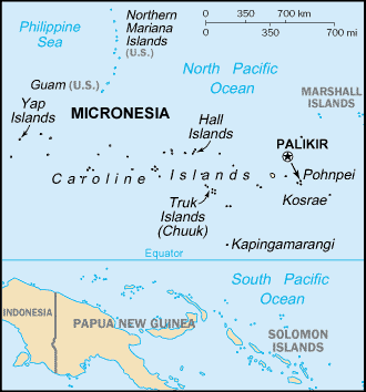 Filipino Tagalog In Micronesia Federated States Ethnic People - Micronesia interactive map