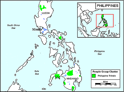 Kankanay, Northern in Philippines map