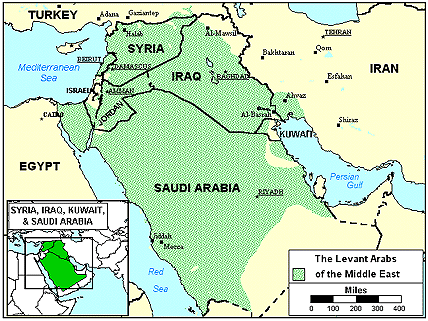 Arab, Arabic Gulf Spoken in Saudi Arabia map