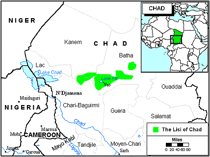 Kuka in Chad map