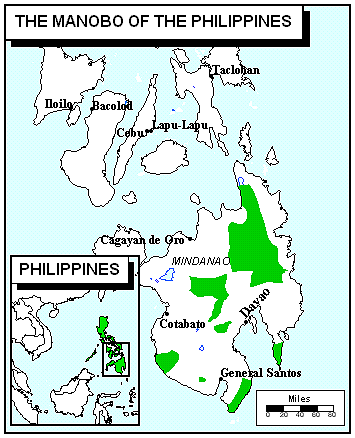 Manobo, Tagabawa Bagobo in Philippines map