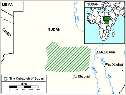 Yazeed in Sudan map