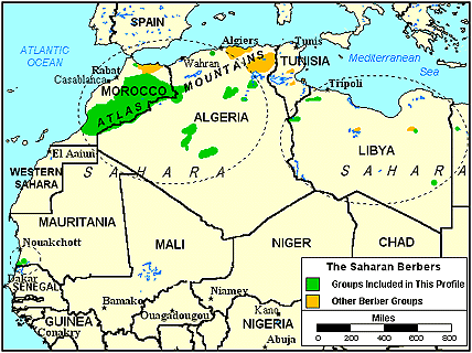 Berber, Filala in Morocco map