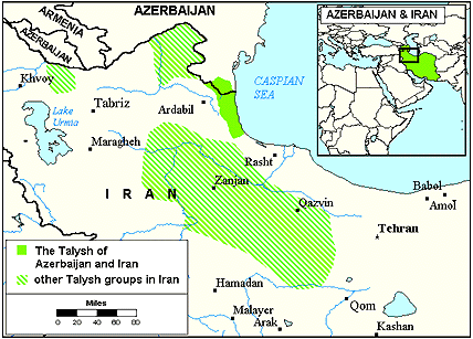 Talysh in Kazakhstan map