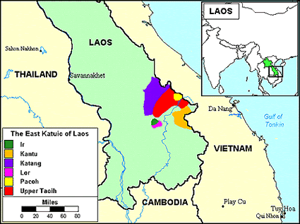 Khlor in Laos map
