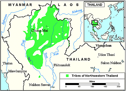 Phu Thai in Laos map