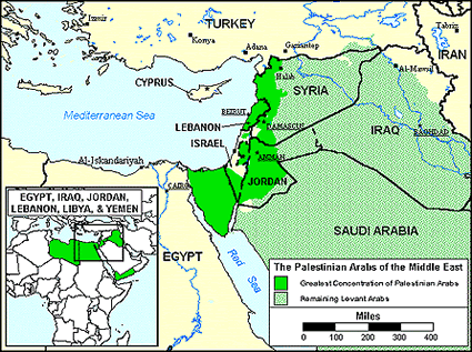 Arab, Palestinian in Honduras map