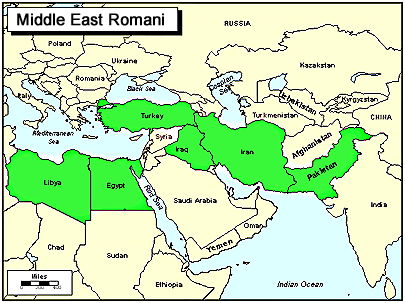 Romani, Vlax in Kosovo map