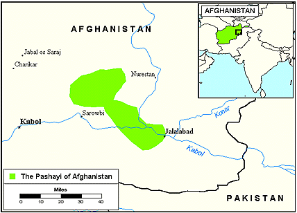 Pashayi, Southeast in Afghanistan map