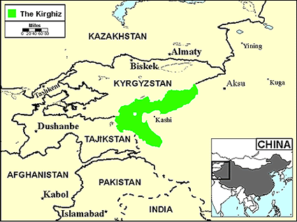 Kyrgyz in Canada map