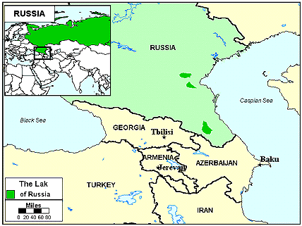 Lak in Azerbaijan map