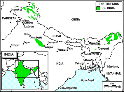 Adi Minyong in India map