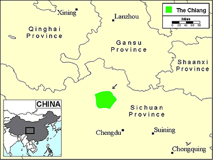 Qiang, Longxi in China map