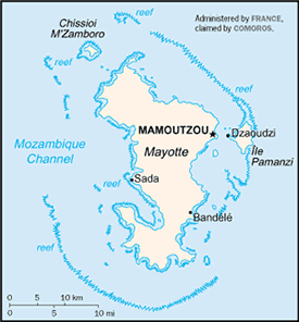 Makua, Makhuwa-Meetto in Mayotte map