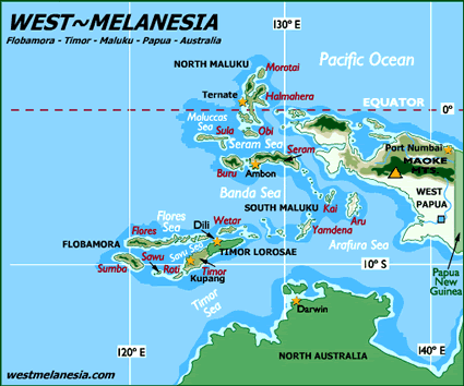 Banda, Eli-Elat in Indonesia map