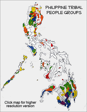 Mansaka in Philippines map