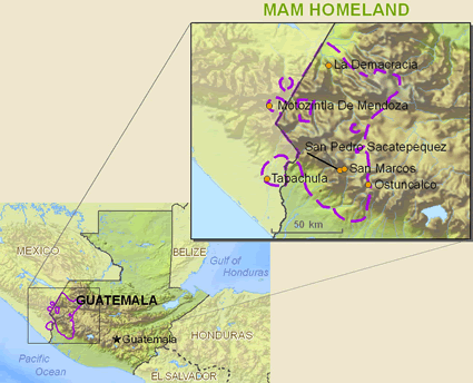 Mam in United States map