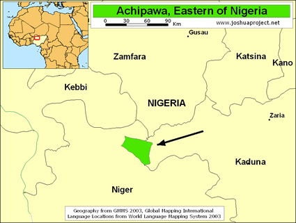 Acipawa in Nigeria map