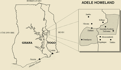 Adele in Togo map