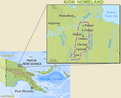 Aion in Papua New Guinea map