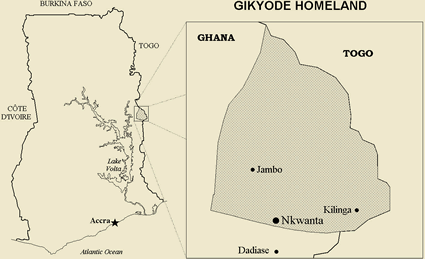 Akyode in Ghana map