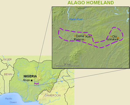 Alago, Idoma Nokwu in Nigeria map