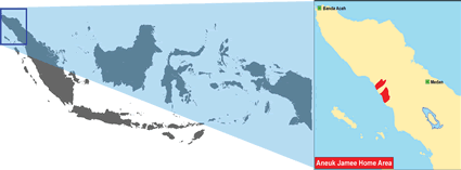 Aneuk Jamee in Indonesia map