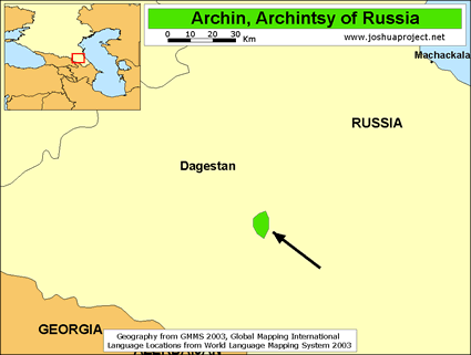 Archi, Archintsy in Russia map