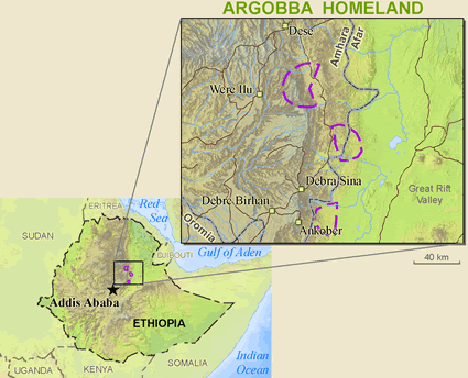 Argobba in Ethiopia map