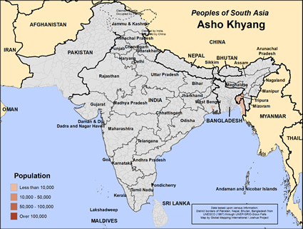 Asho Khyang in India map