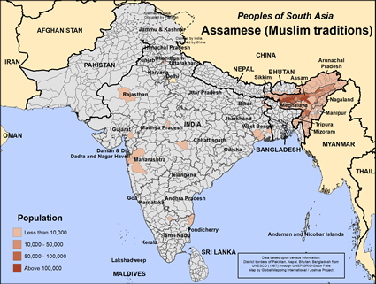 Assamese (Muslim traditions) in Bhutan map