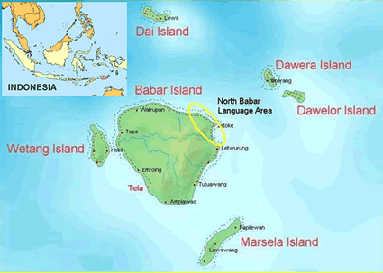 Babar, North in Indonesia map