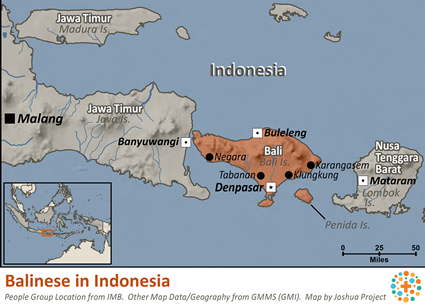 Balinese in Indonesia map