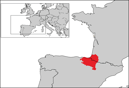 Basque in Spain map