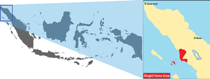 Malay, Singkil in Indonesia map