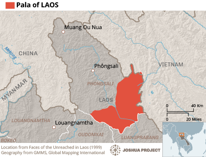 Pala in Laos map
