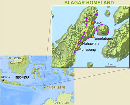 Belagar, Tereweng in Indonesia map