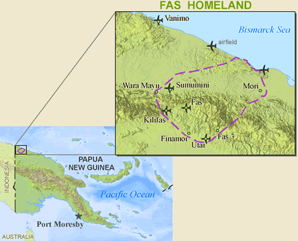 Fas, Bembi in Papua New Guinea map