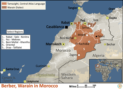 Berber, Warain in Morocco map