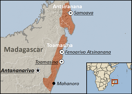 Betsimisaraka, North in Madagascar map