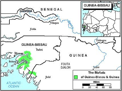 Biafada in Guinea-Bissau map