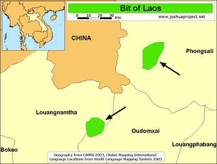 Bit in Laos map