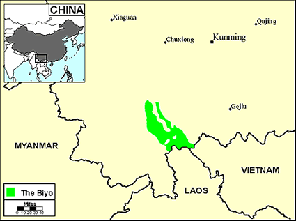 Biyo in China map